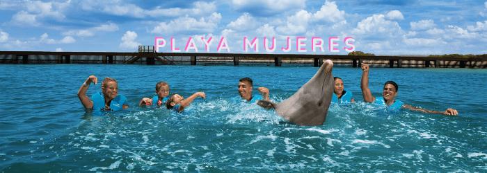 Delphinus mejores lugares nado con delfines Playa Mujeres