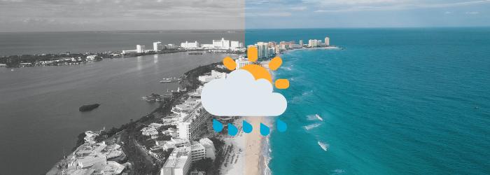 Delphinus clima en Cancun actividades con lluvia